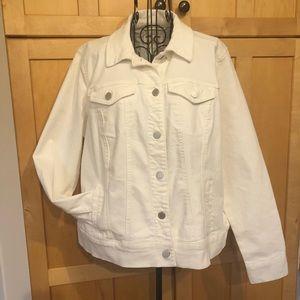 Market & Spruce white denim boyfriend Jacket 1X